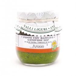Pesto con basilico genovese DOP in olio extravergine - Anfosso - 180gr
