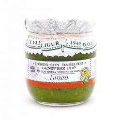 Pesto con basilico genovese DOP senza aglio in olio extravergine - Anfosso - 180gr