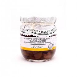 Olive snocciolate taggiasche in olioextravergine - Anfosso - 185gr