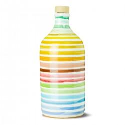 Olio extravergine di oliva Orcio ceramica Arcobaleno coratina - Muraglia - 500ml