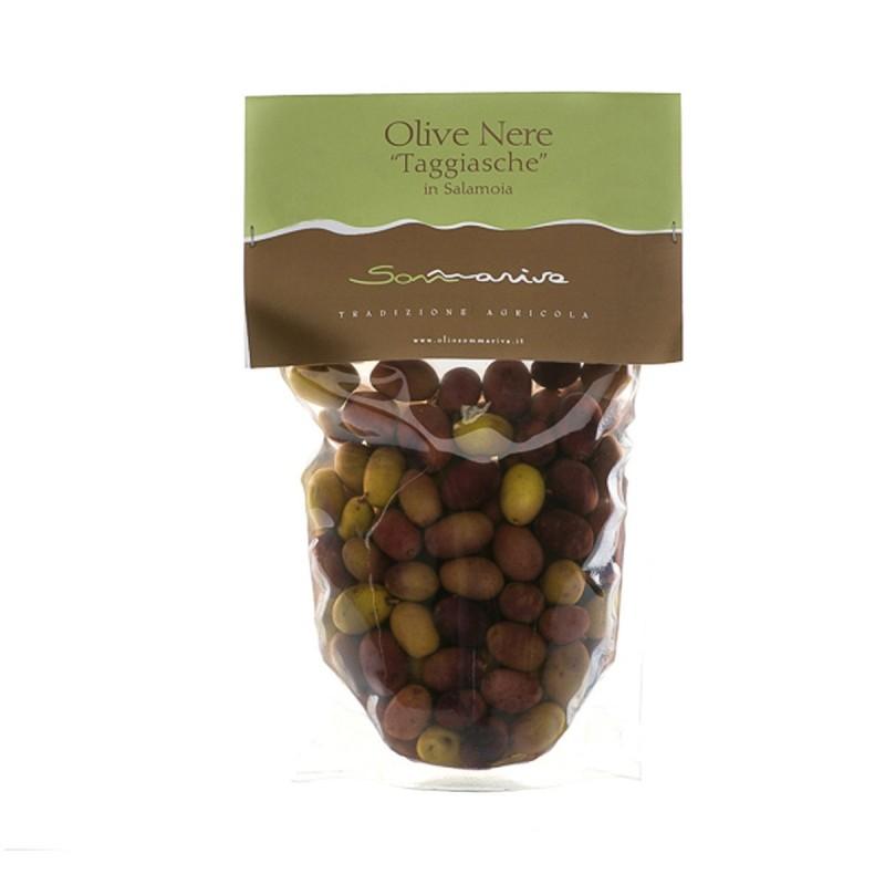 Olive Nere Taggiasche in Salamoia - Sommariva - 300gr