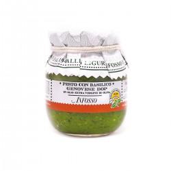 Pesto con basilico genovese DOP in olio extravergine - Anfosso - 85gr