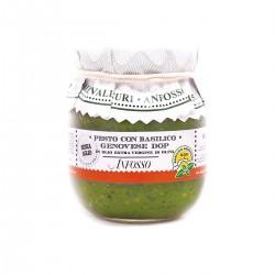 Pesto con basilico genovese DOP senza aglio in olio extravergine - Anfosso - 85gr