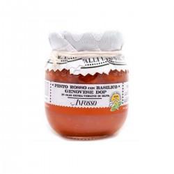 Pesto rosso con basilico genovese DOP in olio extravergine - Anfosso - 85gr