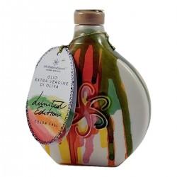 Olio extravergine di oliva Fiaschetta ceramica Color Fall - Silvi Sabina Sapori - 500ml