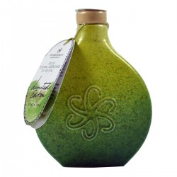 Olio extravergine di oliva Fiaschetta ceramica Green Fog - Silvi Sabina Sapori - 500ml