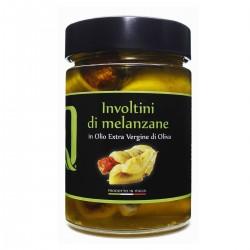 Involtini di Melanzane in olio extra vergine di oliva - Quattrociocchi - 320gr