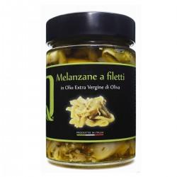 Melanzane a filetti in olio extra vergine di oliva - Quattrociocchi - 320gr