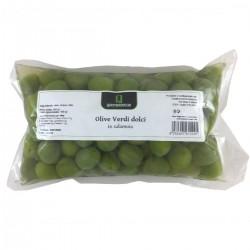 Olive Verdi Dolci in salamoia - Quattrociocchi - 500gr