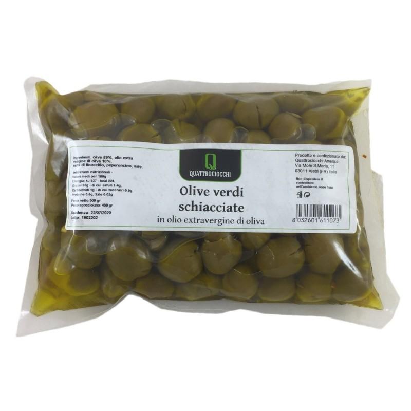 Crushed Green Olives - Quattrociocchi - 500gr