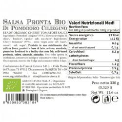 Salsa Pronta di Pomodoro Ciliegino - Cutrera - 330gr