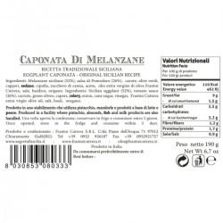 Caponata di Melanzane - Cutrera - 190gr