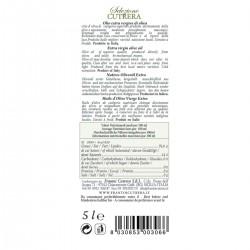 Olio extravergine di oliva Selezione latta - Cutrera - 5l
