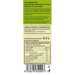 Olio extravergine di oliva Nocellara - Mandranova - 500ml