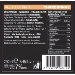Aceto di Vino Monovitigno Chardonnay - I Solai - 250ml