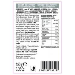 Crema Aceto Balsamico Arancia - I Solai - 180gr