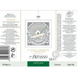 Olio extravergine di oliva 100% Italiano TUMAI Serie Oro - Anfosso - 500ml