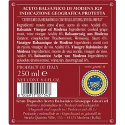 Aceto Balsamico di Modena IGP 3 Medaglie Oro - Giusti - 250ml