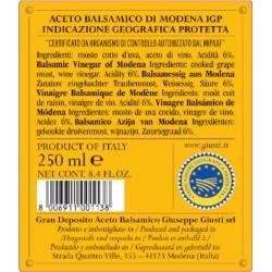 Aceto Balsamico di Modena IGP 4 Medaglie Oro - Giusti - 250ml