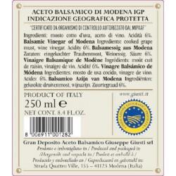 Aceto Balsamico di Modena IGP 5 Medaglie Oro - Giusti - 250ml