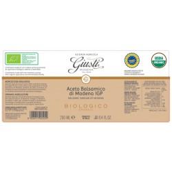 Aceto Balsamico di Modena IGP Bio 1 Sigillo - Giusti - 250ml