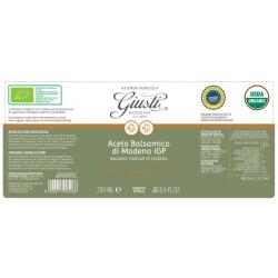 Aceto Balsamico di Modena IGP Bio 2 Sigilli - Giusti - 250ml