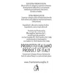 Olio extravergine di oliva Orcio ceramica Arcobaleno peranzana - Muraglia - 500ml