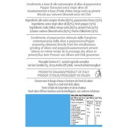 Condimento a base di Olio extravergine di oliva al Peperoncino - Muraglia - 200ml