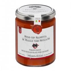 Sugo con Salsiccia di Maiale Nero Siciliano - Cutrera - 290gr
