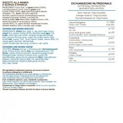 Biscottini alla Arancia e Manna - Tumminello - 210gr