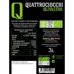 Olio extravergine di oliva Olivastro Bio latta - Quattrociocchi - 3l